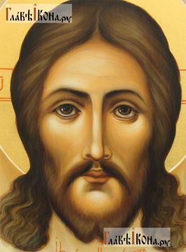 Спас Нерукотворный, писаная икона в живописном стиле, артикул 601 - лик образа