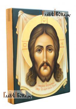Спас Нерукотворный, писаная икона в живописном стиле, артикул 601 - вид сбоку