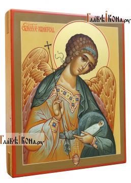Фотография писаной иконы Ангела Хранителя с младенцем, артикул 718 - вид сбоку