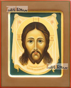 Спас Нерукотворный, рукописная икона с ковчегом, артикул 637
