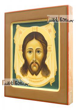 Спас Нерукотворный, рукописная икона с ковчегом, артикул 637 - вид сбоку