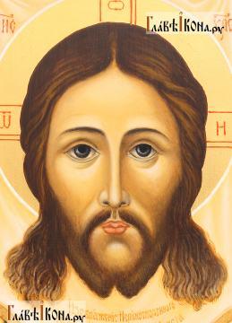 Спас Нерукотворный, рукописная икона с ковчегом, артикул 637 - лик образа