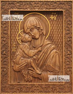 Донская Божия Матерь - фотография резной иконы, артикул 26001-01