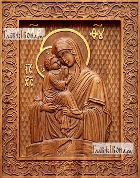 Почаевская Божия Матерь - фотография резной иконы, артикул 26007-01