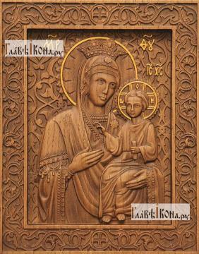 Избавительница Божия Матерь - фотография резной иконы, артикул 26017-01