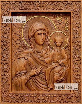 Смоленская Божия Матерь - фотография резной иконы, артикул 26022-01