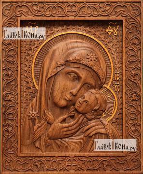 Касперовская Божия Матерь - фотография резной иконы, артикул 26023-01