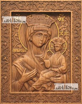Всеблаженная Божия Матерь - фотография резной иконы, артикул 26025-01