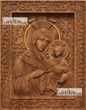 Вифлиемская Божия Матерь - фотография резной иконы, артикул 26029-01