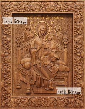 Всецарица Божия Матерь - фотография резной иконы, артикул 26030-01