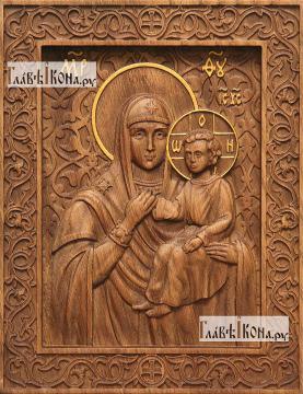 Лиддская Божия Матерь - фотография резной иконы, артикул 26033-01
