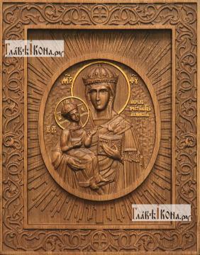 Леснинская Божия Матерь - фотография резной иконы, артикул 26035-01