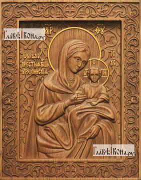 Урюпинская Божия Матерь - фотография резной иконы, артикул 26036-01