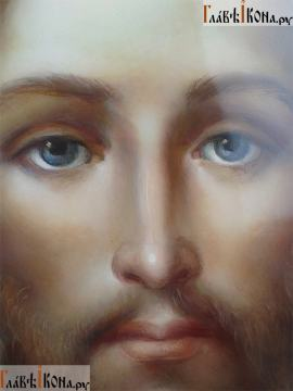 Рукописная икона Спаса Нерукотворного (живописный стиль, масло) - лик образа