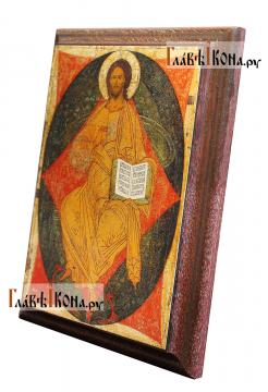 Спас в Силах, икона на металле подарочная - вид сбоку
