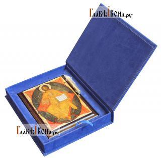 Спас в Силах, икона на металле подарочная - вид в футляре