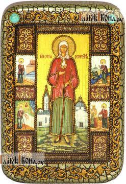 Ксения Петербургская (с клеймами), икона подарочная в футляре, 10х15 см