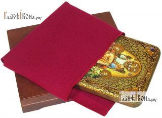 Царь Царем, икона подарочная на дубовой доске, 15х20 см - вид в комплекте