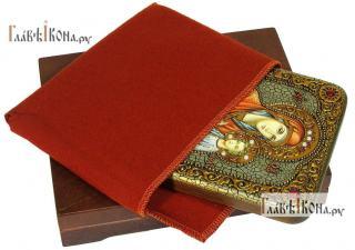 Скоропослушница, икона подарочная на дубовой доске, 15х20 см - вид в комплекте