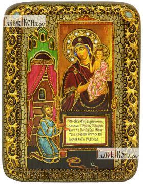 Целительница, икона подарочная на дубовой доске, 15х20 см