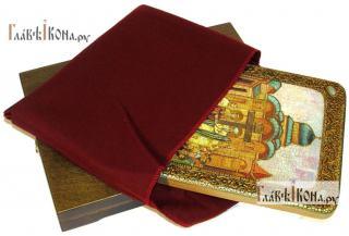 Воздвижение креста Господня, аналойная подарочная икона - вид в комплекте