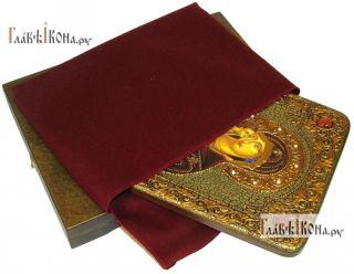 Донская Божия Матерь, аналойная подарочная икона - вид в комплекте
