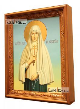 Елизавета Алапаевская, писаная икона маслом - вариант оформления в киоте
