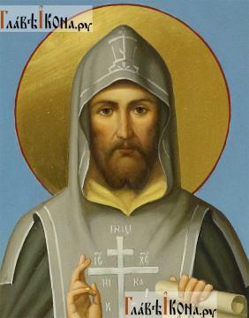 Кирилл равноапостольный, мерная икона (арочная) - детали образа