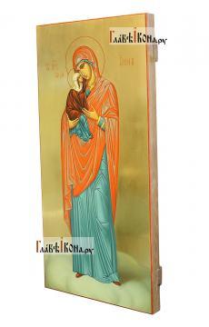 Анна Праведная, меная икона в живописном стиле - вид сбоку