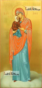Анна Праведная, меная икона в живописном стиле