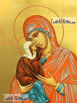 Анна Праведная, меная икона в живописном стиле - детали образа