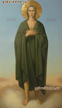 Мерная икона маслом преподобной Марии Египетской