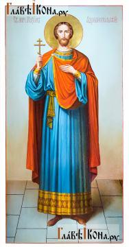 Максим Андрианопольский, мерная икона маслом