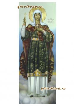 Наталия Никомидийская, мерная икона маслом