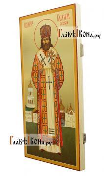 Владимир Киевский и Галицкий, мерная икона с золочением - вид сбоку