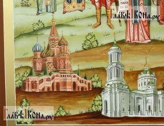 Семейная икона с пятнадцатью святыми покровителями семьи - храмы слева