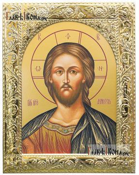 Господь, икона в посеребренной ризе, артикул 41878