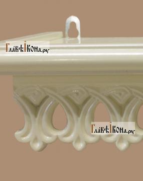Полочка для икон маленькая белая, 36 сантиметров - детали
