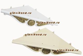 Полочка для икон одноярусная угловая белая: дид 2-х оттенков белого