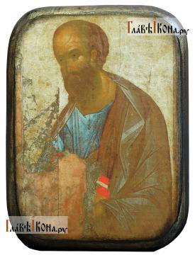 Апостол Павел, икона под старину на дереве