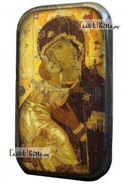 Владимирская Божия Матерь, икона под старину на дереве