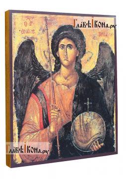 Архангел Михаил (греческий стиль) икона печатная, артикул 90501 - вид сбоку