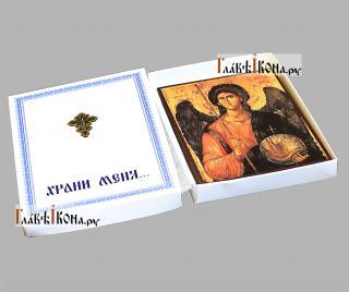 Архангел Михаил (греческий стиль) икона печатная, артикул 90501 - в коробке