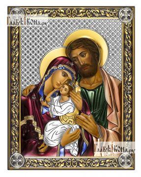 Святое Семейство икона 14х18 см эмаль
