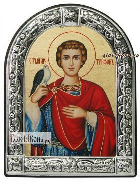 Трифон мученик икона с рамкой
