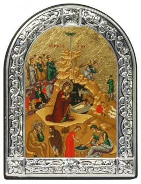 Рождество Христово икона с рамкой