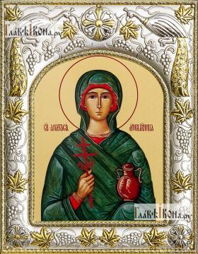 Анастасия Узорешительница, икона в ризе, артикул 42801