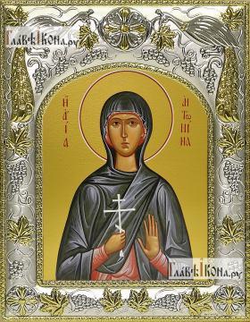 Антонина Никейская, икона в ризе, артикул 42804