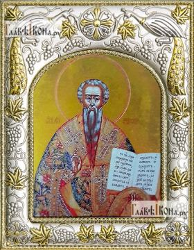 Лев Катанский, икона в ризе, артикул 42814