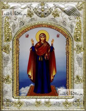 Нерушимая стена Божия Матерь, икона в ризе, артикул 42820
